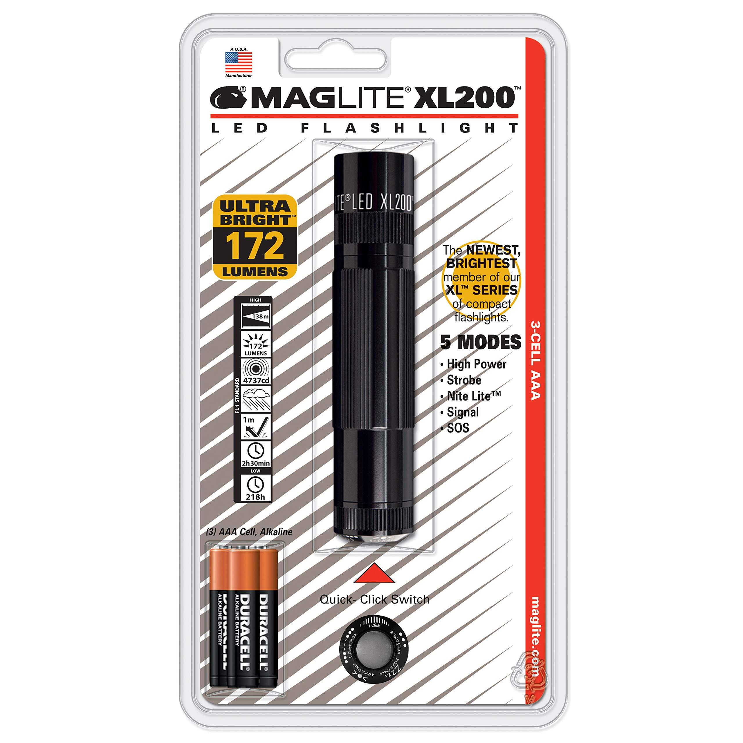 Linterna Maglite : XL200 LED 3-Celdas AAA Negro