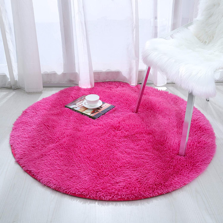 Softlife Fluffy Area Rugs For Bedroom 4 X 5 3 Shaggy Floor Carpet Cute Rug For Boys Kids Living Room Nursery Home Decor Black Adecopria Com