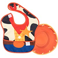 Bumkins Disney Toy Story SuperBib, Baby Bib, with Cape, Waterproof, Washable, Stain & Odor Resistant, 6-24 Months - Woody