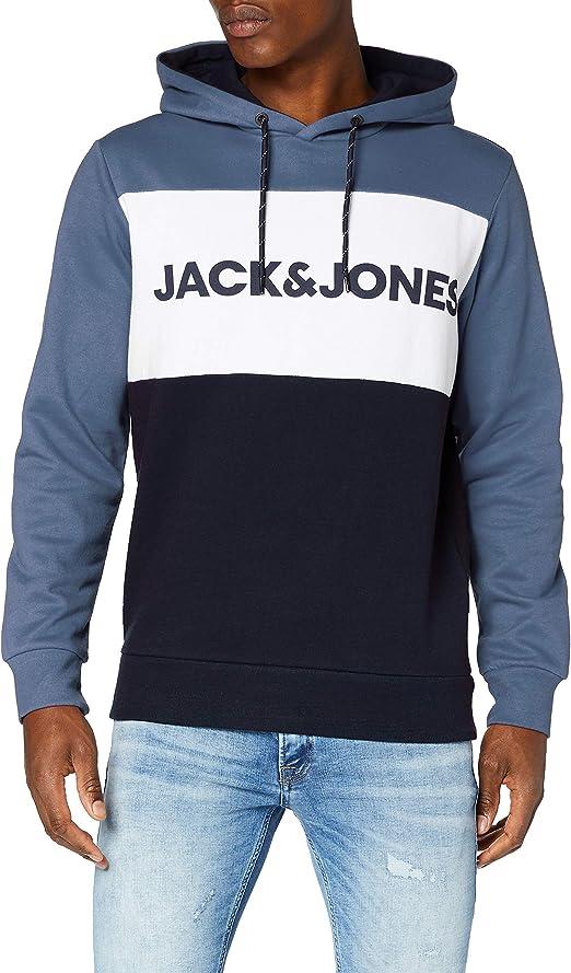 TALLA L. Jack & Jones Jortylers Sweat Hood STS Sudadera con Capucha para Hombre