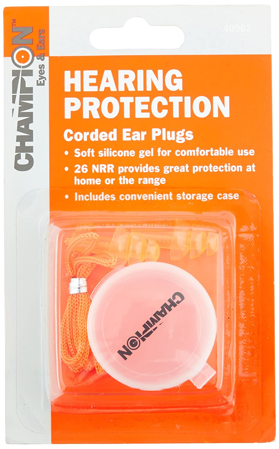 Champion 40962 Gel Corded Ear Plugs with Case 134724-548259
