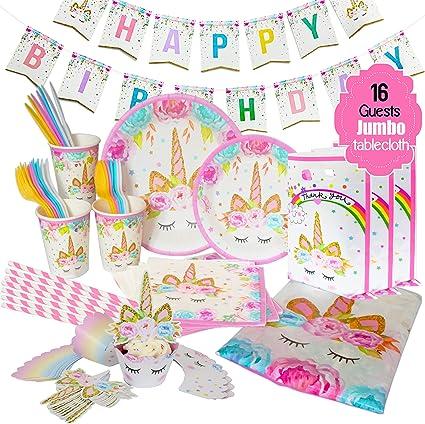 Amazon.com: ecoZen suministros para fiesta de cumpleaños de ...