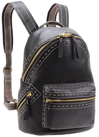 40c942bcaa92 Iblue Women Leather Backpack Purse Casual Travel Shoulder School Bag Small  M6118(black)