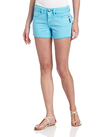 Amazon.com: Silver Jeans Women's Toni Flap Short, Turquoise, 26 ...