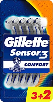 Gillette Sensor3 Comfort - Cuchillas desechables para hombre, pack