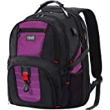 ANKUER Large Laptop Backpack, TSA Travel Bag with USB Charging Port, Business Computer Bag Fit 17 Inch (Purple)