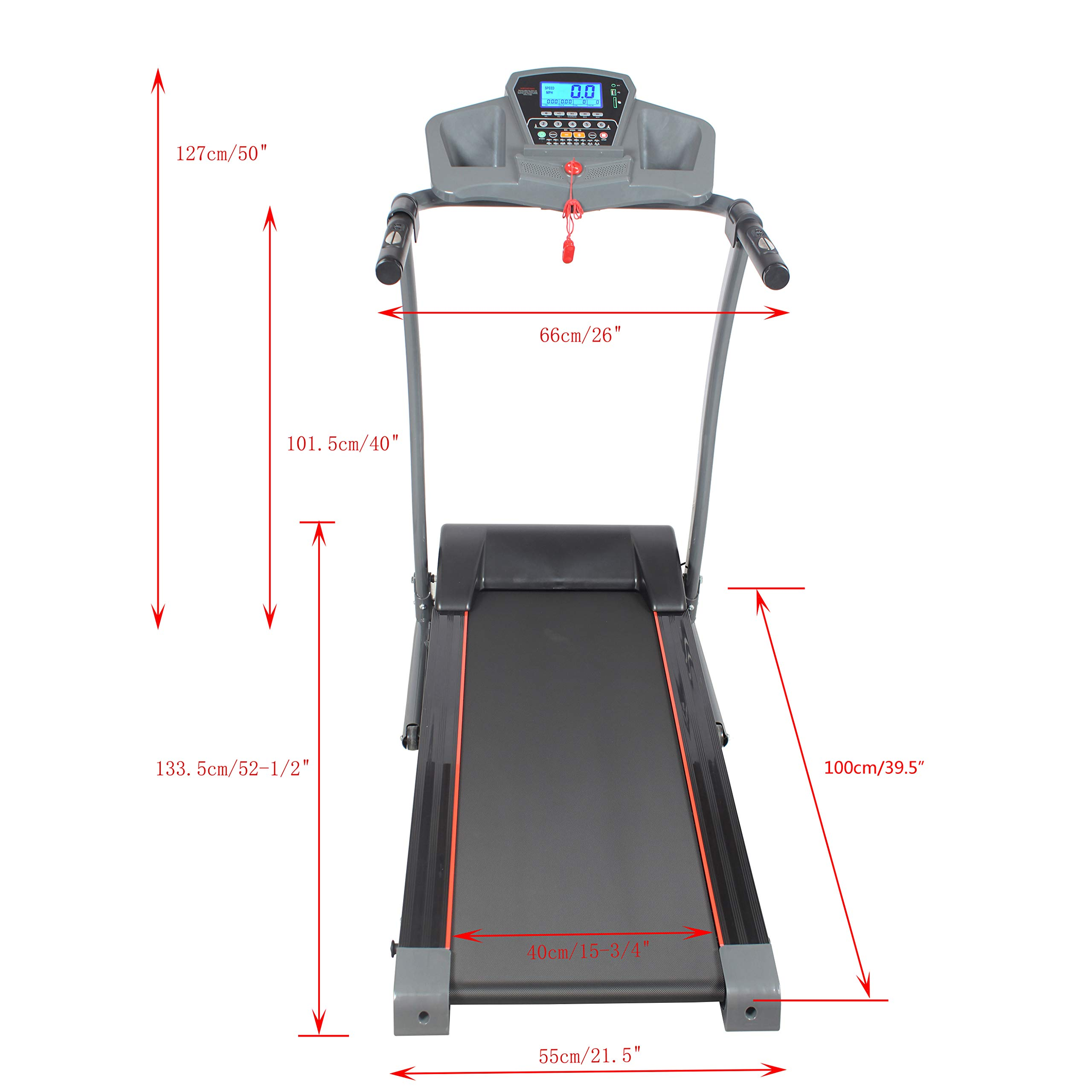GOJOOASIS 2.0HP Treadmill Folding Motorized Running Exercise Machine w/Incline by GOJOOASIS (Image #3)