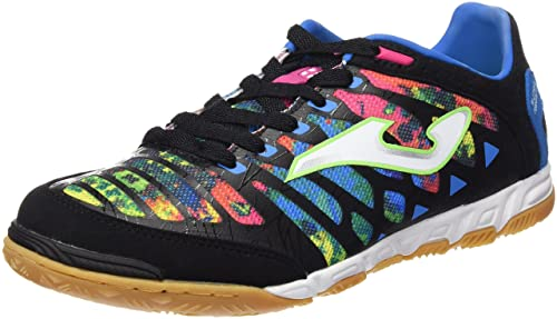 b15c476cfc2d Joma Men s Super Regate 601 Negro-multicolor Indoor Indoor football shoes  Black, 9 UK