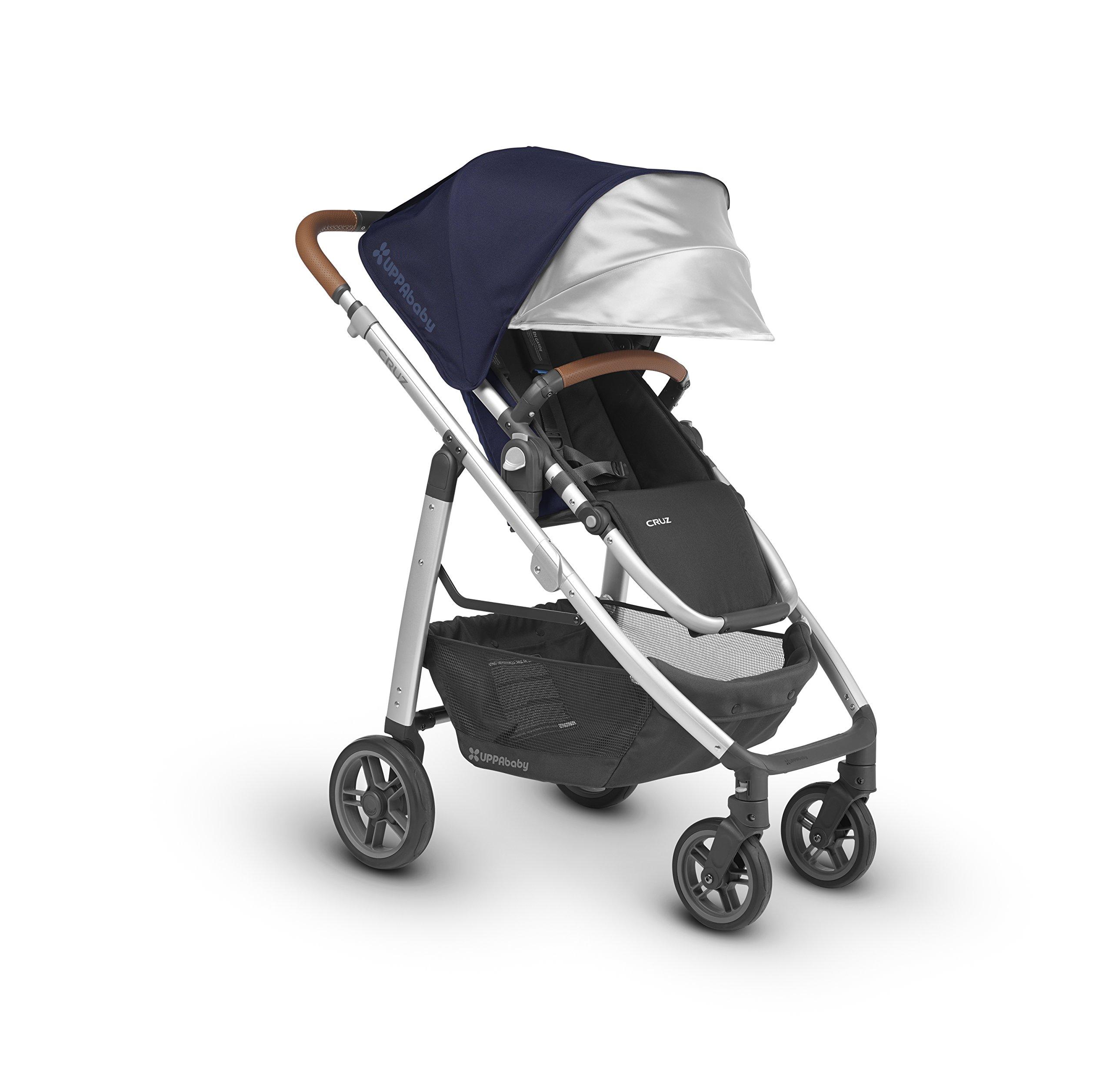 UPPAbaby CRUZ Stroller, Indigo/Silver/Leather, Taylor
