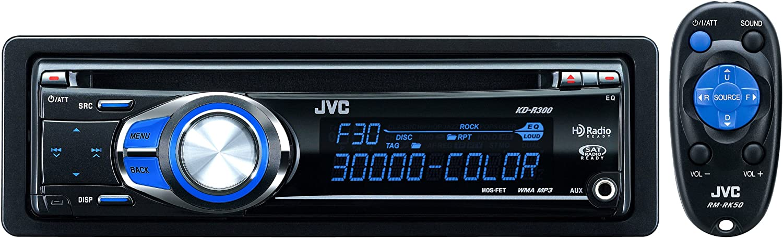 Amazon.com: JVC KD-R300 30K Color-Illumination Single-DIN CD Receiver with  Remote Control and J-Bus Expandability: Car ElectronicsAmazon.com