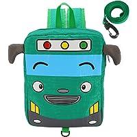 Willikiva Little Kids Cartoon Bus Toddler Backpacks,Child School Bag for Kindergarten Girls and Boys
