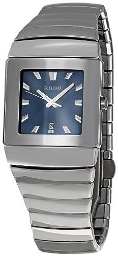 25a3c5eddd07 Reloj Rado Sintra para Hombre en cerámica Gris Esfera Azul R1343212   Amazon.es  Relojes
