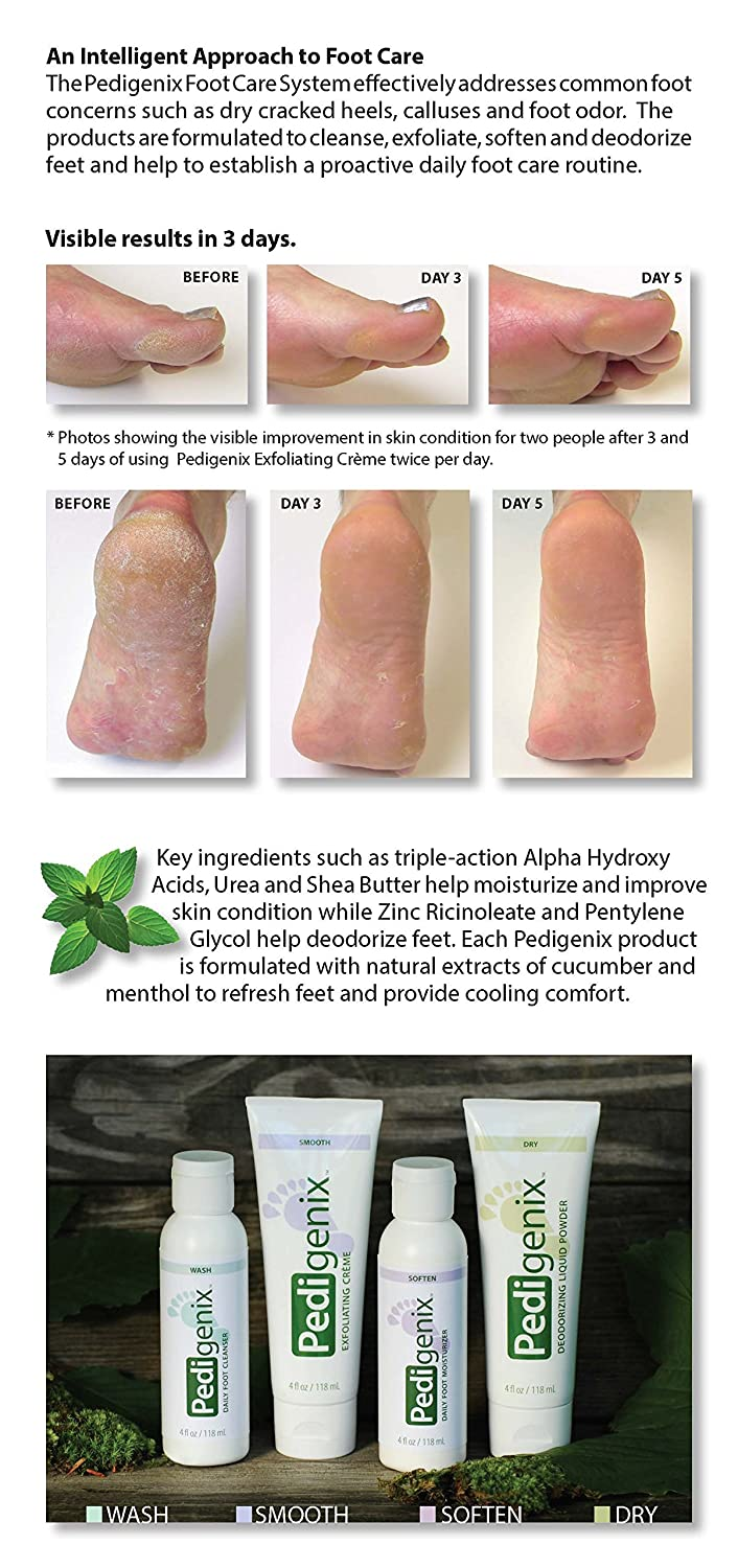 Amazon: Pedigenix Preventative Foot Care Products For Dry, Rough Feet,  Calluses, Bromhidrosis, Hyperkeratotic Tissue, 4 Ounce, Exfoliating Creme  Tube: