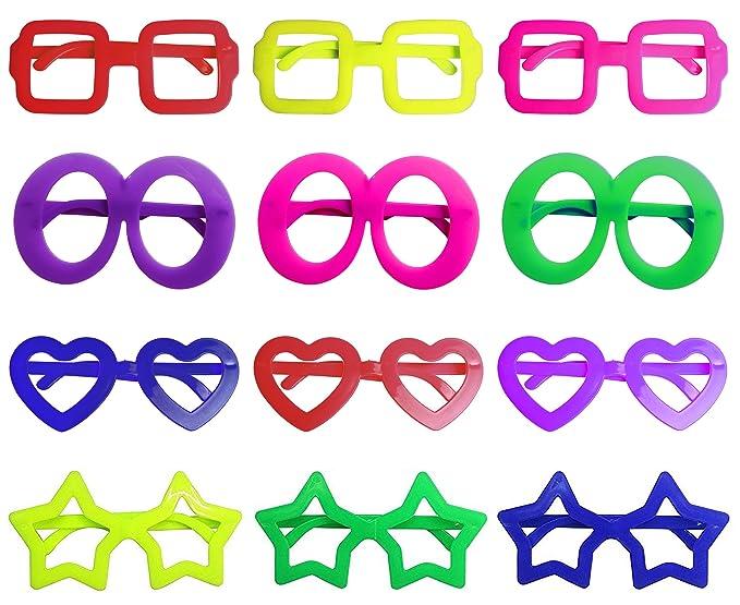 Gafas de sol con formas varias para fiesta de disfraces, navidad, cumpleaños, etc.