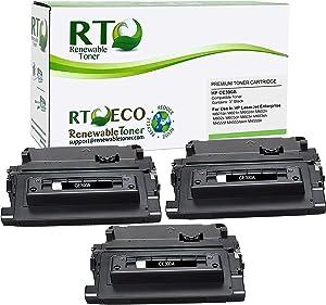 Renewable Toner Compatible Toner Cartridge Replacement for HP 90A CE390A Laserjet Enterprise M601 M602 M603 M4555 (Black, 3-Pack)