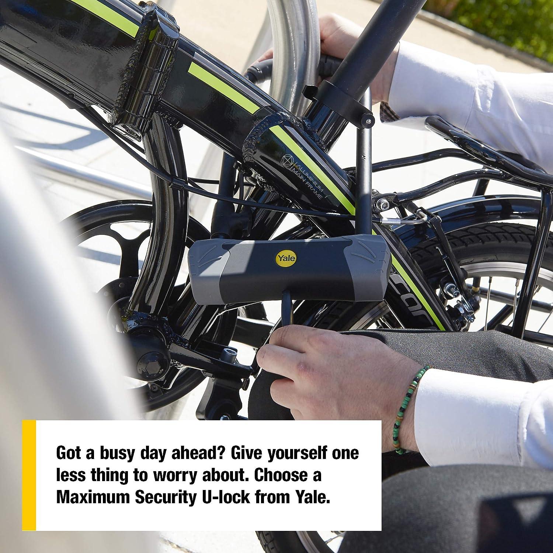 Yale YUL3//14//230//1 Candado De Seguridad para Bicicleta En U Negro