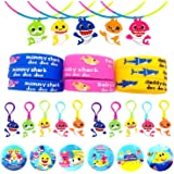 Time-killer Baby Shark Party Favors 30 Pack - Rubber Bracelets/Keychains/Necklace/Badge - Shark Themed Birthday Party…