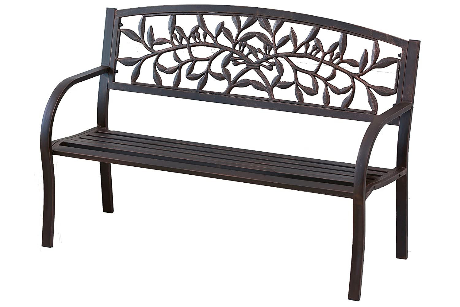 pl at com red l outdoors lowes benches outdoor in treasures garden steel bench furniture patio shop w x metal