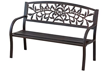 Cape Craftsmen Cast Metal Vine Bench