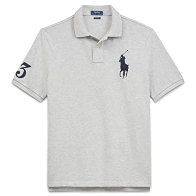 2a5699e4 Image Unavailable. Image not available for. Color: Polo Ralph Lauren Mens  Big & Tall Mesh Classic Fit Big Pony Polo Shirt ...