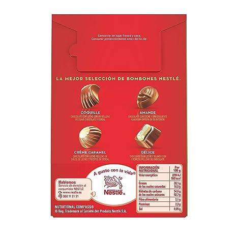 NESTLÉ CAJA ROJA Bombones de Chocolate - Bolsa de bombones 100 g
