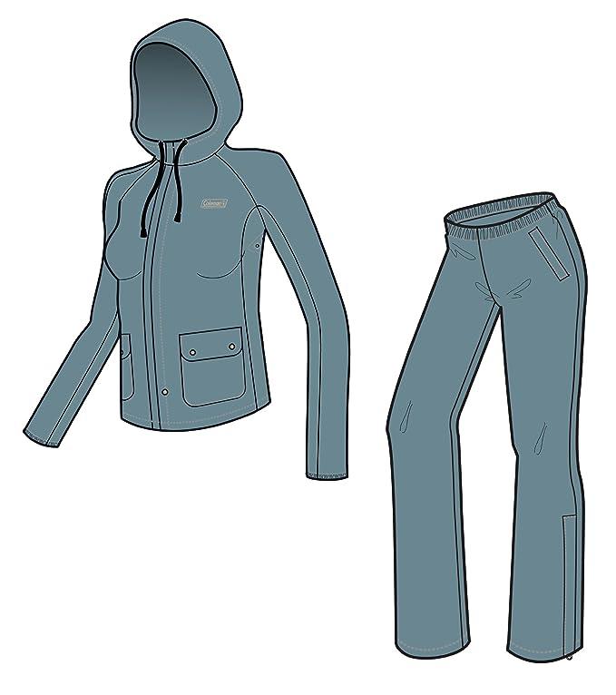 Amazon.com: Coleman PVC/Poly traje impermeable de la mujer ...