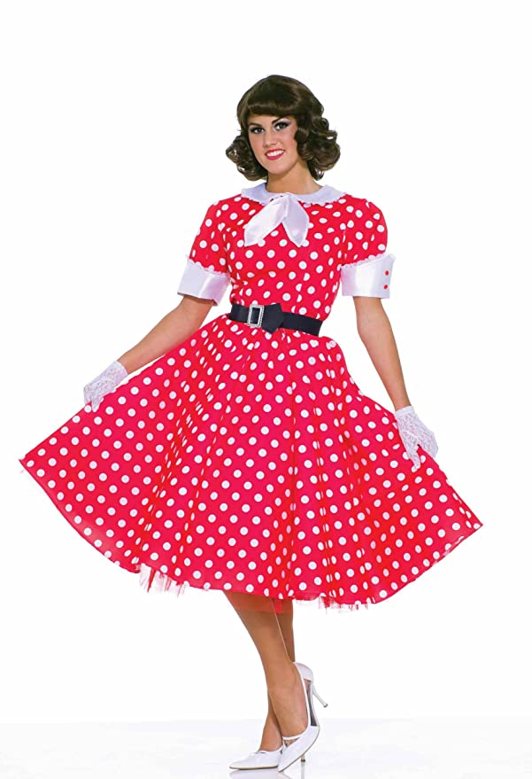 1950s Polka Dot Dresses Housewife Costume $23.27 AT vintagedancer.com