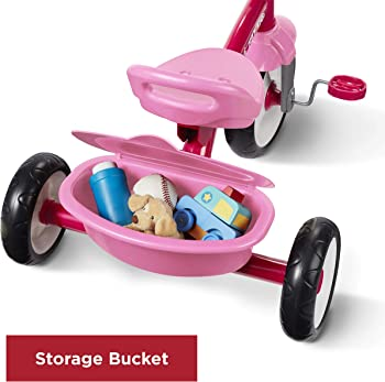 Radio Flyer Pink Rider Trike Kids Tricycle