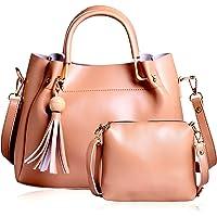 CLASSIC FASHION Women's PU Sling Bag (Light Brown)