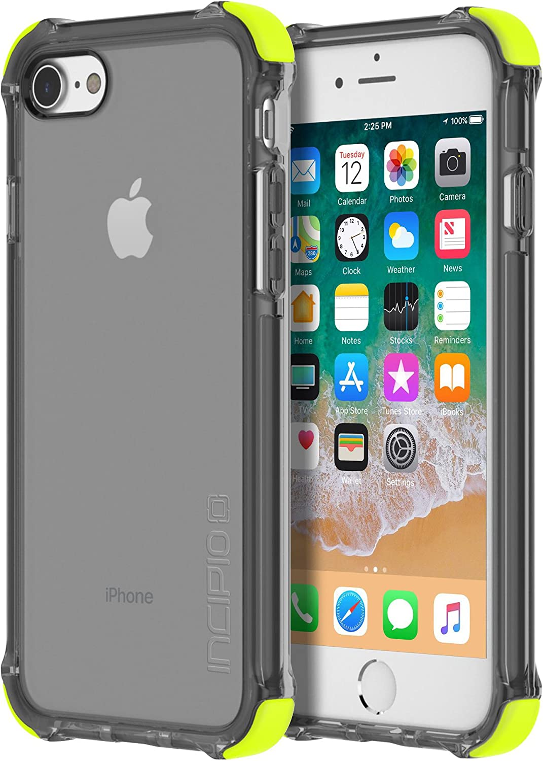 Incipio Reprieve [Sport] iPhone 8 Case with Reinforced Shock-Absorbing Corners for iPhone 8 - Volt/Smoke