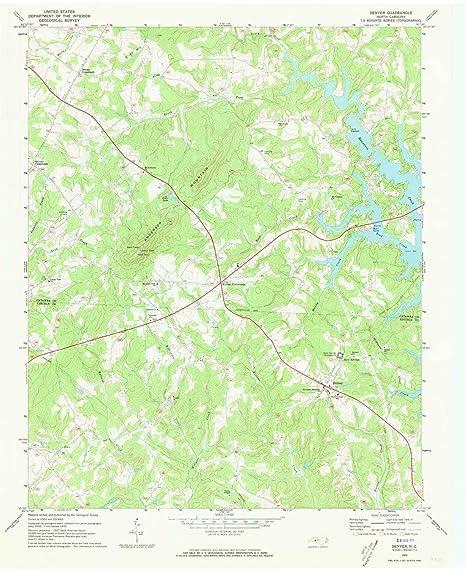 Amazon Com Yellowmaps Denver Nc Topo Map 1 24000 Scale 7 5 X 7 5