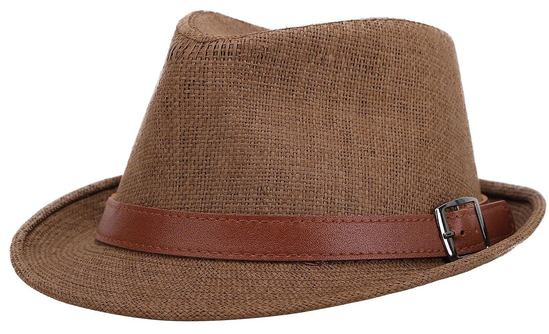 Jasmine Men//Womens Classic Short Brim Miami Beach Panama Fedora Straw Hat