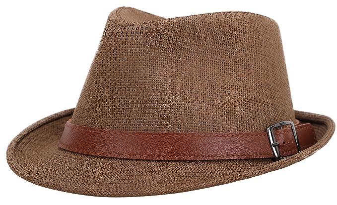 9832ec5f3 Jasmine Men/Women's Classic Short Brim Miami Beach Panama Fedora Straw Hat