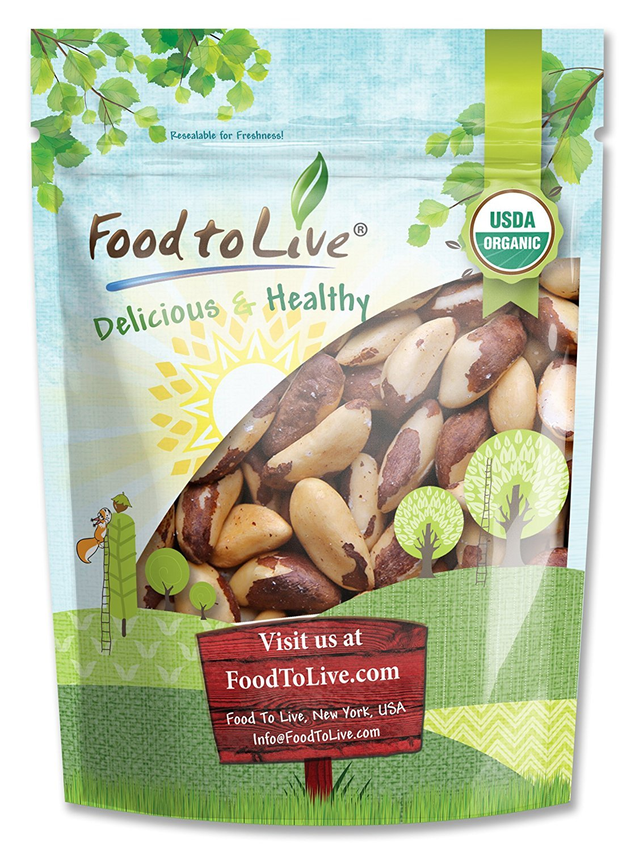 Organic Brazil Nuts, 8 Ounces – No Shell, Non-GMO, Kosher, Raw, Vegan