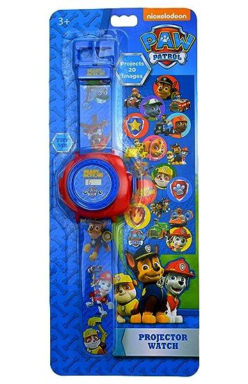Reloj de pulsera digital proyector para niños de La Patrulla Canina: Amazon.es: Relojes