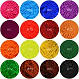 15 Piece Assorted Mini Pod Sampler Shimmer Mica & Mineral Matte Powder 1/2 Gram Each Pod For Slime, Soap Making, Cosmetic, Candle Making, Nail Art, Resin Jewelry, Acrylic and other Craft Projects