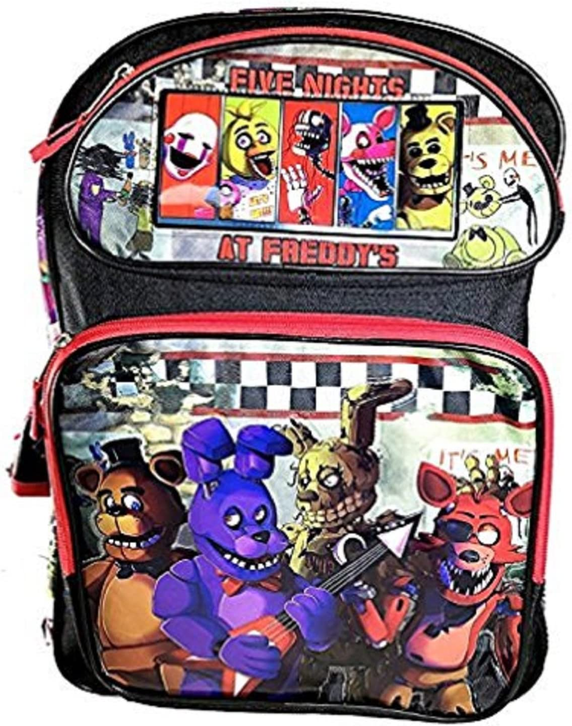 Bonnie Foxy Chica 16 Large Backpack Five Nights at Freddys