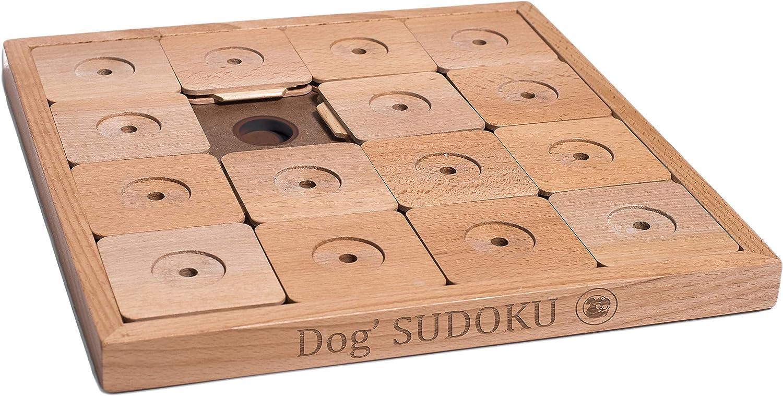 My Intelligent Pets Dog' SUDOKU Medium Genie Classic Dog Puzzle Toy: Innovative Mental Food Puzzle, Slow Feeder Toy, Treat Dispensing, Interactive Puzzle, Brick Treat Puzzle