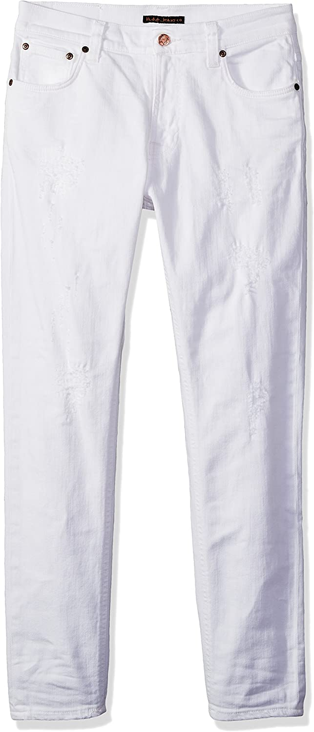 Nudie Jeans Mens Brute Knut Pitch White
