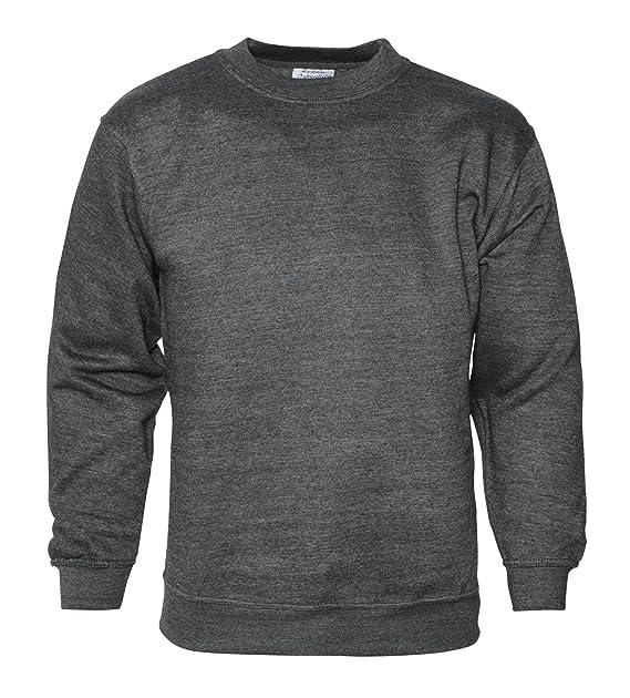 Click4Fashions para Hombre Plain Sudadera Jersey Jumper Sweater Pullover Trabajo Casual Ocio Top: Amazon.es: Ropa y accesorios