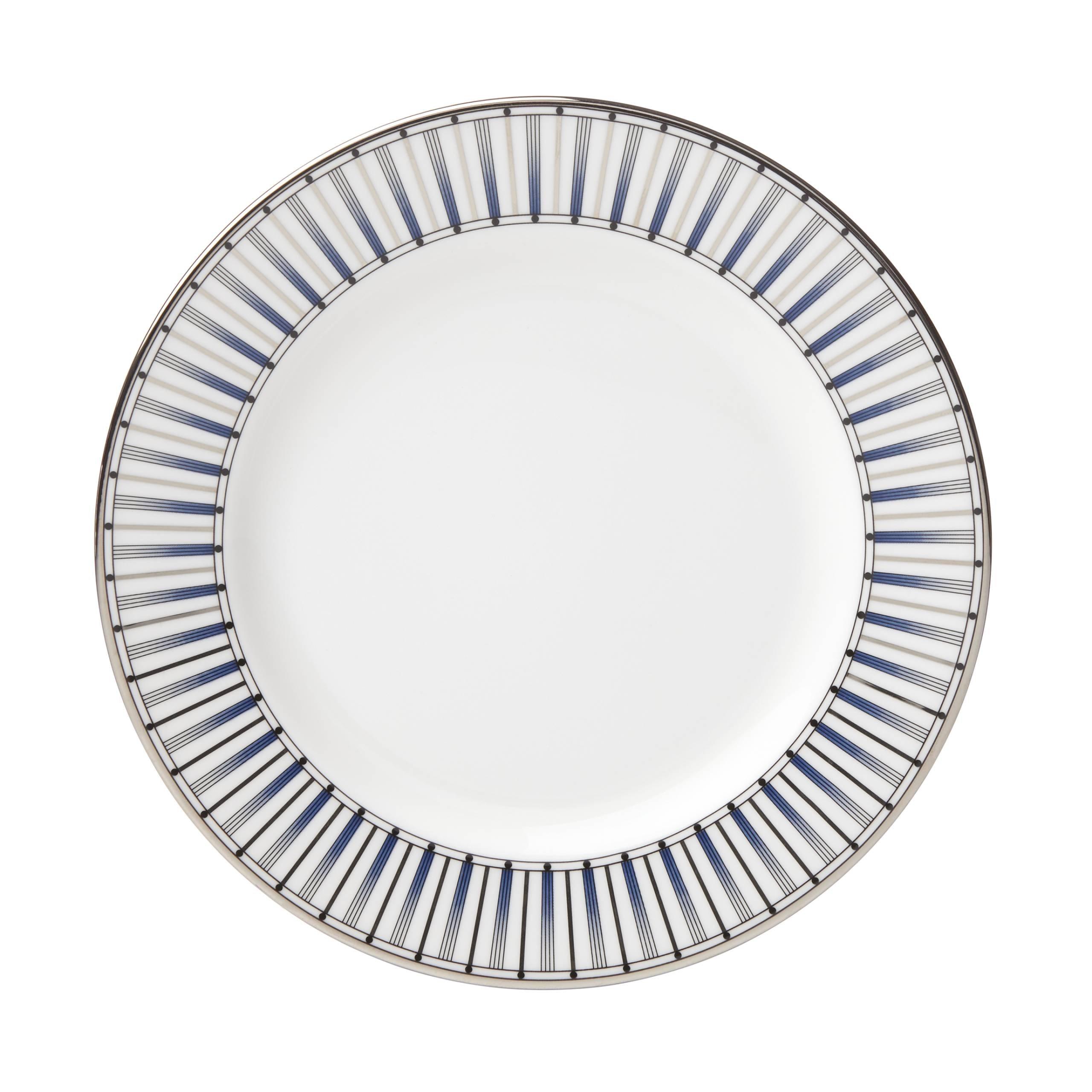 Lenox Geodesia Blue Butter Plate, White