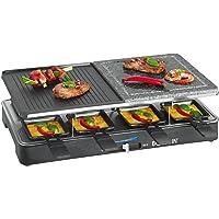 Bomann RG2279CB Raclette Grill con Piedra Natural y Placa Reversible, 8 Personas, 1400W, 1400 W, Azul