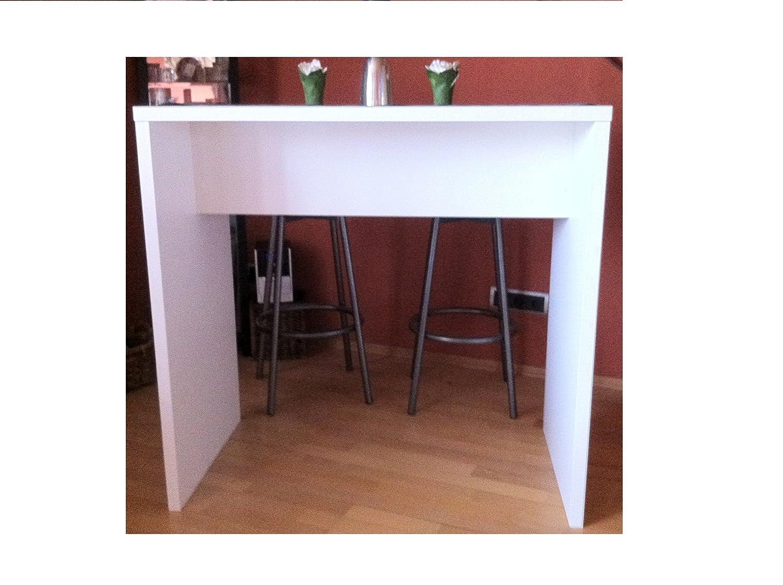 H-Möbel Bartisch Tresen Theke Stehtisch Bürotisch Weiss Tisch mit Haken Haken Haken zur Jacken- und Taschenaufbewahrung c8db1c