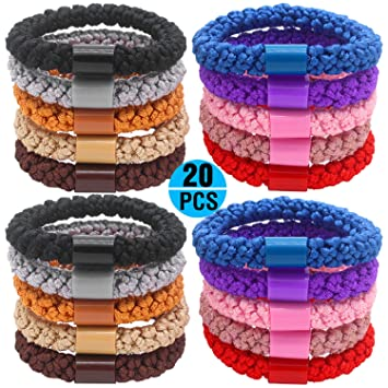 Fashion   Lifestyle 20 Pcs Large Hair Ties Pony Ponytail Holders for Thick  Hair - Stretchy cc5269e1950