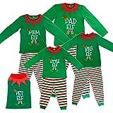 Made By Elves Elf Pyjamas Christmas Family PJS - Dad, Mum, Big, Little and Pet Elf