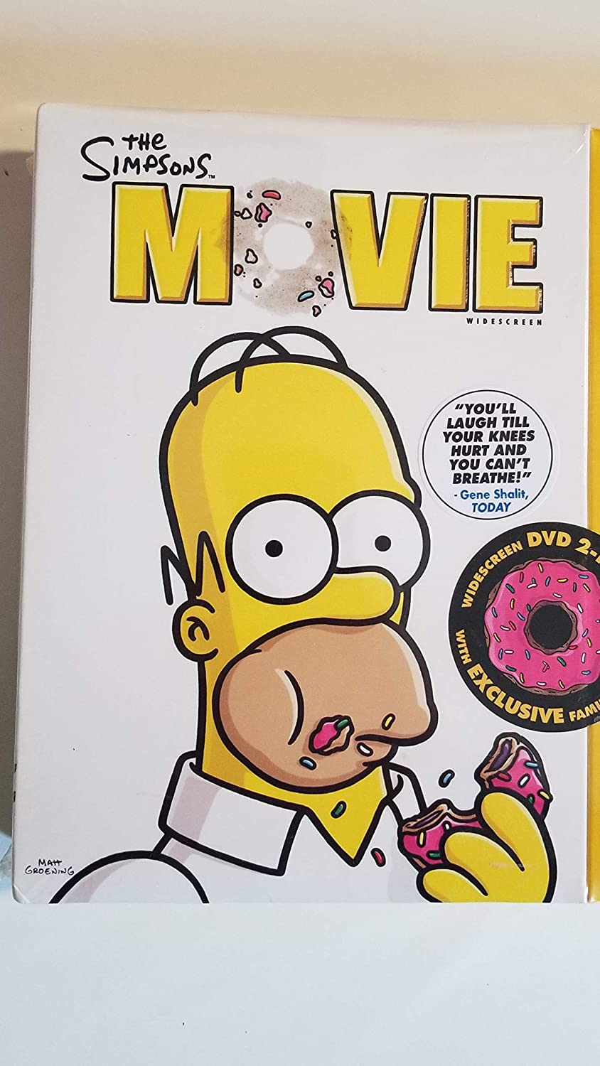 Amazon Com The Simpsons Movie Widescreen Dvd 2 Pack With Exclusive Family Figurines Movies Tv