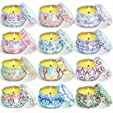 STRN Citronella Scented Candles, Summer Soy Wax Candles, Lemongrass Aromaethrapy Candles for Outdoor& Indoor, Travel Tin Cand