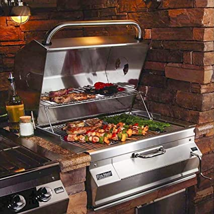 Fire Magic Charcoal Legacy Built in Grill (Grill w 30 in. Smoker Hood)
