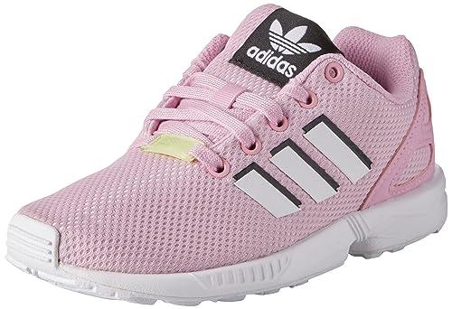 Adidas ZX Flux C, Zapatillas de Gimnasia Unisex Niños, Rosa (Frost Pink F14/Ftwr White/FTWR White), 29 EU