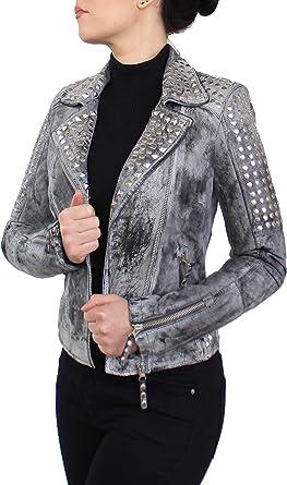 Echt Lederjacke Damen grau XS wunderschön